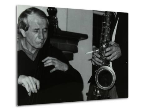 Phil Bates and the Tenor Saxophone of Spike Robinson at the Bell, Codicote, Hertfordshire, 1986-Denis Williams-Metal Print