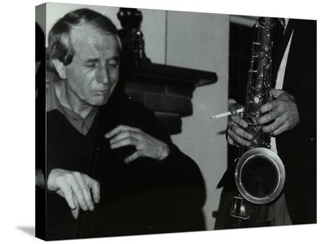Phil Bates and the Tenor Saxophone of Spike Robinson at the Bell, Codicote, Hertfordshire, 1986-Denis Williams-Stretched Canvas Print