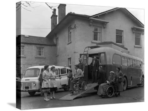Paraplegic Bus, Pontefract, West Yorkshire, 1960-Michael Walters-Stretched Canvas Print