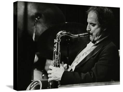 Saxophonist Frank Tiberi Performing at the Forum Theatre, Hatfield, Hertfordshire, 1983-Denis Williams-Stretched Canvas Print