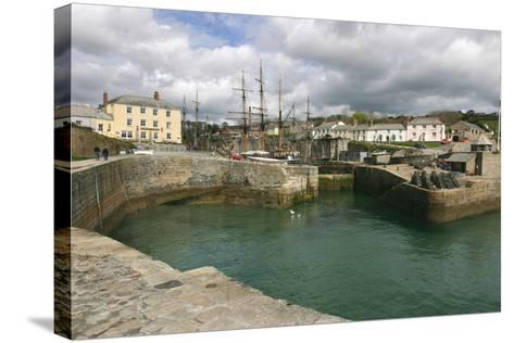 Charlestown, Cornwall-Peter Thompson-Stretched Canvas Print