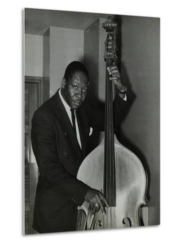 Portrait of American Double Bass Player Curtis Counce, C1950S-Denis Williams-Metal Print