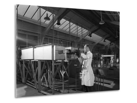 Tungsten Carbide Furnace Being Loaded, Edgar Allen Steel Co, Sheffield, South Yorkshire, 1962-Michael Walters-Metal Print