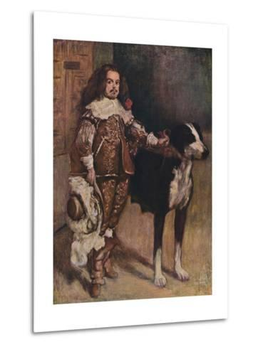 Court Dwarf Don Antonio El Ingles, (1640-1645), 1903-Diego Velazquez-Metal Print