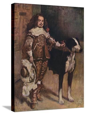 Court Dwarf Don Antonio El Ingles, (1640-1645), 1903-Diego Velazquez-Stretched Canvas Print