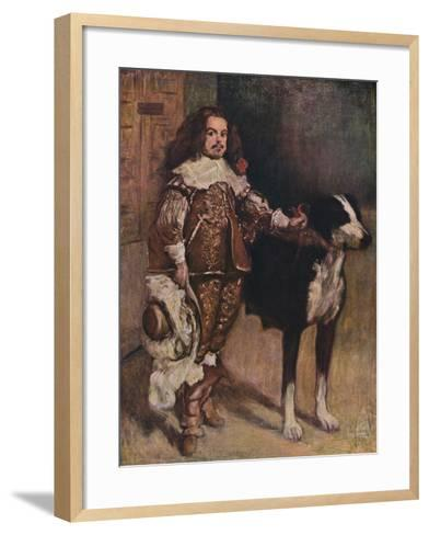 Court Dwarf Don Antonio El Ingles, (1640-1645), 1903-Diego Velazquez-Framed Art Print