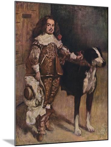Court Dwarf Don Antonio El Ingles, (1640-1645), 1903-Diego Velazquez-Mounted Giclee Print