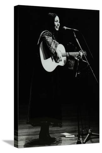American Folk Musician Julie Felix on Stage at the Forum Theatre, Hatfield, Hertfordshire, 1979-Denis Williams-Stretched Canvas Print