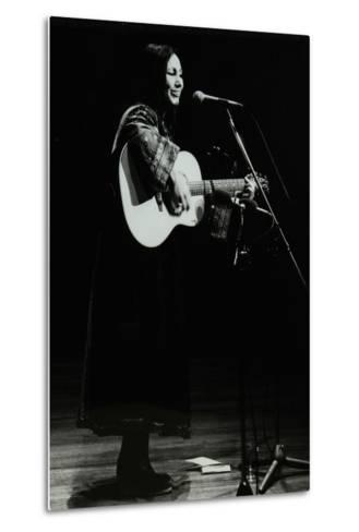 American Folk Musician Julie Felix on Stage at the Forum Theatre, Hatfield, Hertfordshire, 1979-Denis Williams-Metal Print