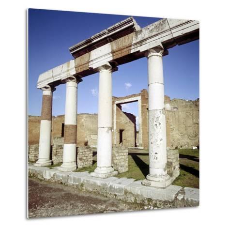 Columns of the Colonnade Round the Forum, Pompeii, Italy-CM Dixon-Metal Print