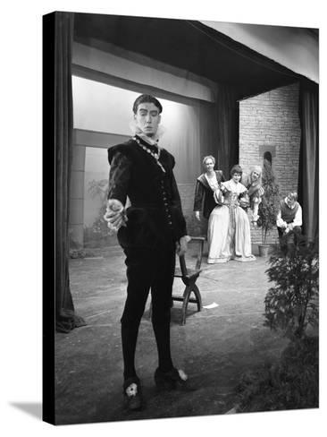 Production of Shakespeares Twelfth Night, Worksop College, Derbyshire, 1960-Michael Walters-Stretched Canvas Print