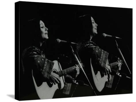 American Folk Musician Julie Felix Performing at the Forum Theatre, Hatfield, Hertfordshire, 1979-Denis Williams-Stretched Canvas Print