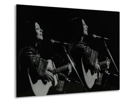 American Folk Musician Julie Felix Performing at the Forum Theatre, Hatfield, Hertfordshire, 1979-Denis Williams-Metal Print