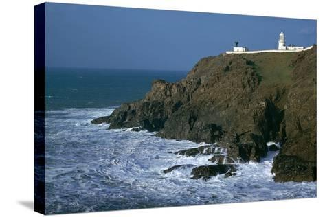 Pendeen Lighthouse-CM Dixon-Stretched Canvas Print