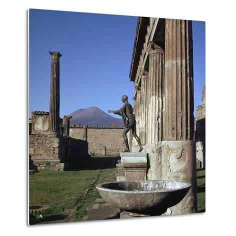 Bronze Statue at Temple of Apollo in Pompeii, 1st Century-CM Dixon-Metal Print