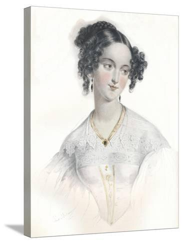 Mary Teresa, Wife of Sixteenth Earl of Shrewsbury, 1834-L Mansion-Stretched Canvas Print