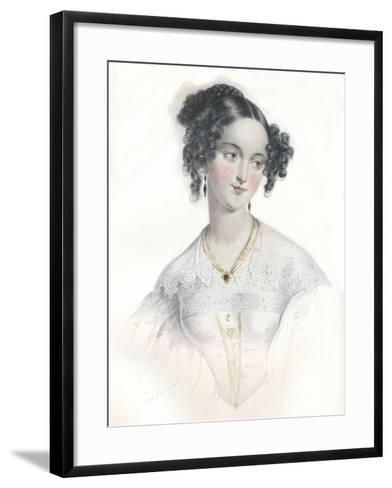 Mary Teresa, Wife of Sixteenth Earl of Shrewsbury, 1834-L Mansion-Framed Art Print