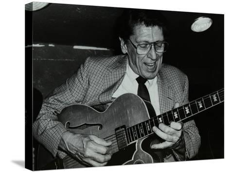 Tal Farlow Playing the Guitar at the Bell, Codicote, Hertfordshire, 18 May 1986-Denis Williams-Stretched Canvas Print