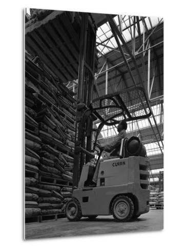 A Clark Forklift Truck, Spillers Animal Foods, Gainsborough, Lincolnshire, 1962-Michael Walters-Metal Print