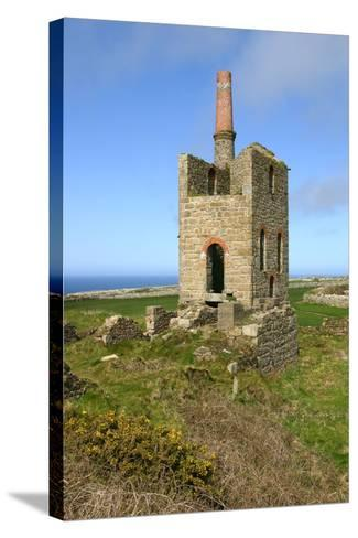 Higher Bal Mine Engine House, Cornwall-Peter Thompson-Stretched Canvas Print