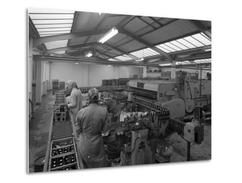 The Final Process of Bottling Beer, Ward and Sons Bottling Plant, Swinton, South Yorkshire, 1960-Michael Walters-Metal Print