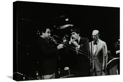 The Herb Miller Orchestra in Concert at the Forum Theatre, Hatfield, Hertfordshire, 1985-Denis Williams-Stretched Canvas Print