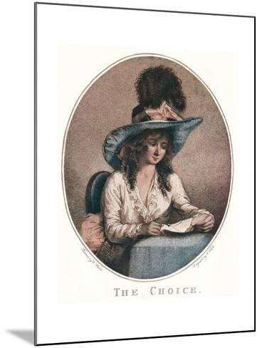 The Choice, C18th Century-William Ward-Mounted Giclee Print