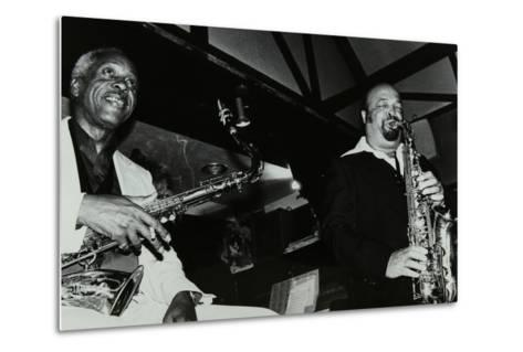Sonny Stitt and Red Holloway Playing at the Bell, Codicote, Hertfordshire, 24 November 1980-Denis Williams-Metal Print