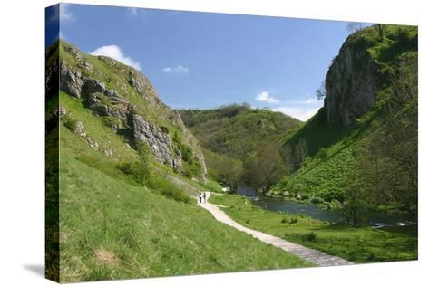 Dovedale, Derbyshire-Peter Thompson-Stretched Canvas Print