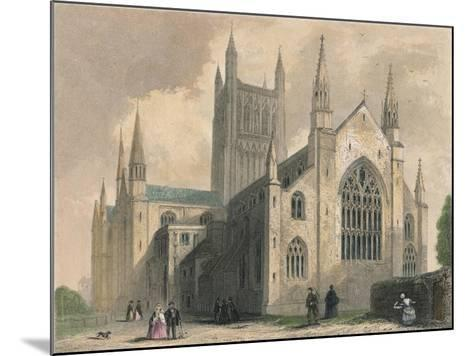 Worcester Cathedral, North West View, 1836-Henry Winkles-Mounted Giclee Print