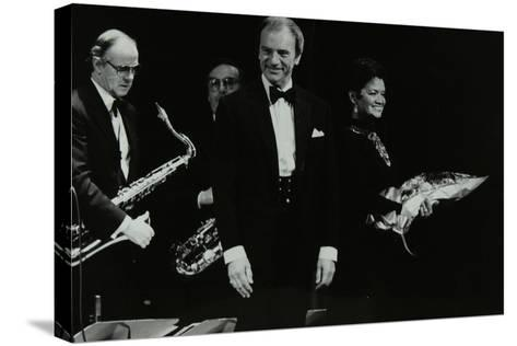 The Ted Heath Orchestra in Concert at the Forum Theatre, Hatfield, Hertfordshire, 18 November 1983-Denis Williams-Stretched Canvas Print