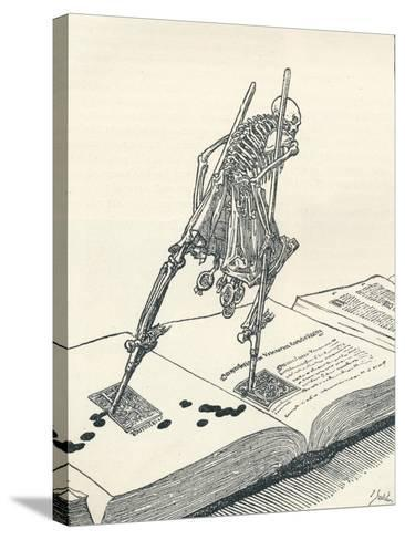 The Modern Dance of Death, C1895-Joseph Kaspar Sattler-Stretched Canvas Print