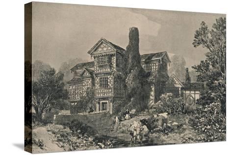 Little Moreton Hall, Cheshire, 1915-HL Pratt-Stretched Canvas Print