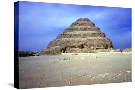 Distant View of the Step Pyramid of King Djoser (Zozer), Saqqara, Egypt, 3rd Dynasty, C2600 Bc- Imhotep-Stretched Canvas Print