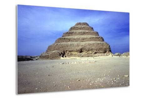 Distant View of the Step Pyramid of King Djoser (Zozer), Saqqara, Egypt, 3rd Dynasty, C2600 Bc- Imhotep-Metal Print
