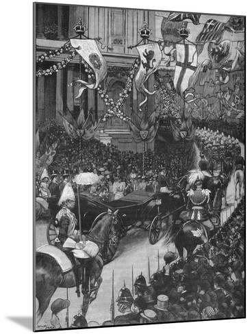 Marriage of the Duke of York: the Royal Procession Passing St Pauls Cathedral, 1893-Arthur Salmon-Mounted Giclee Print