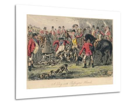 A Day with Puffingtons Hounds, 1865-Bradbury, Evans and Co-Metal Print