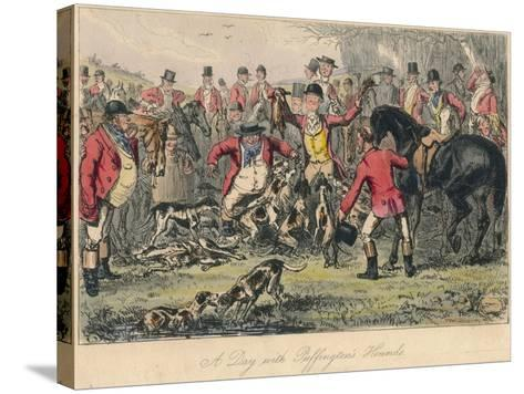 A Day with Puffingtons Hounds, 1865-Bradbury, Evans and Co-Stretched Canvas Print