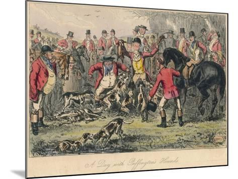 A Day with Puffingtons Hounds, 1865-Bradbury, Evans and Co-Mounted Giclee Print
