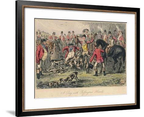 A Day with Puffingtons Hounds, 1865-Bradbury, Evans and Co-Framed Art Print