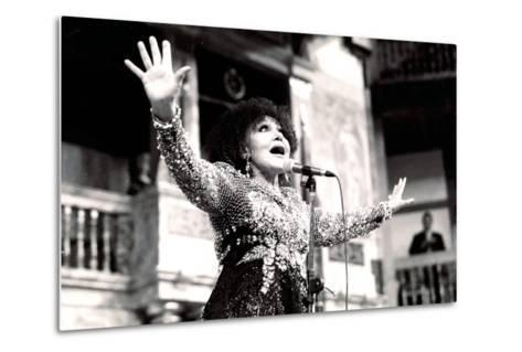 Cleo Laine, the Globe, London, 2000-Brian O'Connor-Metal Print
