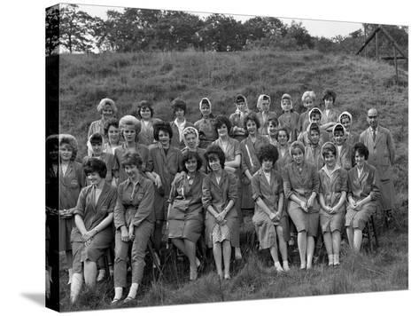 Women from the Ici Powder Works in a Group Photograph, South Yorkshire, 1962-Michael Walters-Stretched Canvas Print