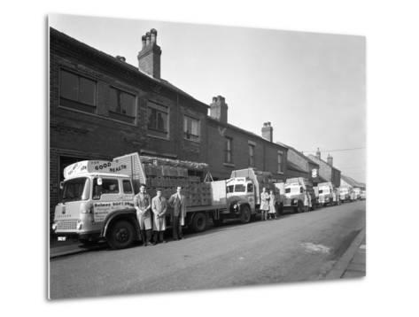 Fleet of Soft Drinks Delivery Lorries, Mexborough, South Yorkshire, 1961-Michael Walters-Metal Print