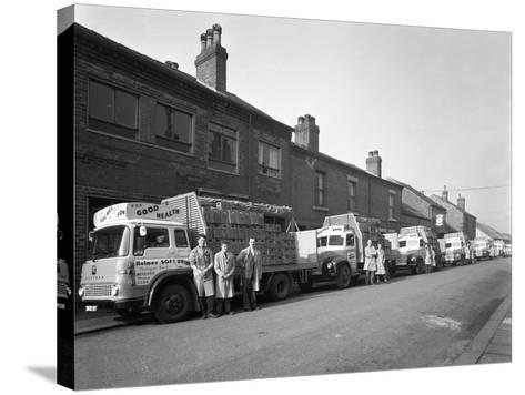 Fleet of Soft Drinks Delivery Lorries, Mexborough, South Yorkshire, 1961-Michael Walters-Stretched Canvas Print