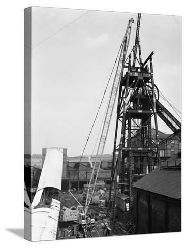 Heavy Lifting Gear at Hickleton Main Pit, Thurnscoe, South Yorkshire, 1961-Michael Walters-Stretched Canvas Print