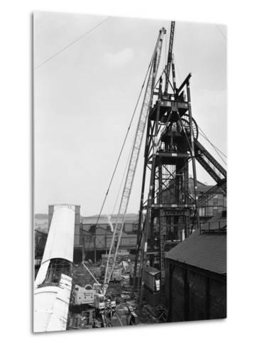 Heavy Lifting Gear at Hickleton Main Pit, Thurnscoe, South Yorkshire, 1961-Michael Walters-Metal Print
