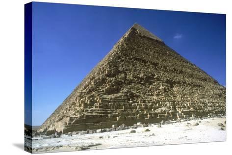 Pyramid of Khafre (Chephren), Giza, Egypt, 4th Dynasty, 26th Century Bc-CM Dixon-Stretched Canvas Print