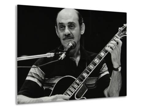 American Guitarist Joe Pass Playing at the Shaw Theatre, London, 31 July 1982-Denis Williams-Metal Print