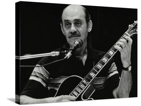 American Guitarist Joe Pass Playing at the Shaw Theatre, London, 31 July 1982-Denis Williams-Stretched Canvas Print