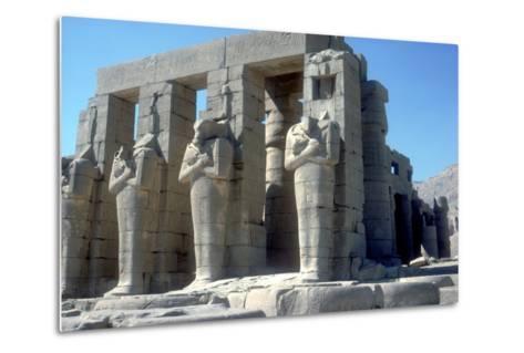 Colossal Statues of Rameses Ii, the Ramesseum, Temple of Rameses Ii, Luxor, Egypt, C1300 Bc-CM Dixon-Metal Print